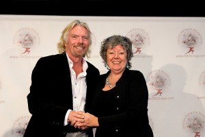 Sir Richard Branson and Jane May Jones