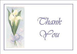Custom Wedding Invitation thank you card