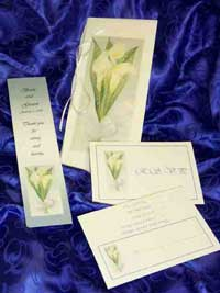 Custom Wedding Invitations: Calla Lilly