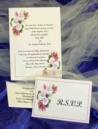 Custom Wedding Invitation with hydrangea and calla lilly