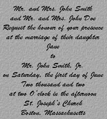 ... Traditional Wedding Invitation Wording