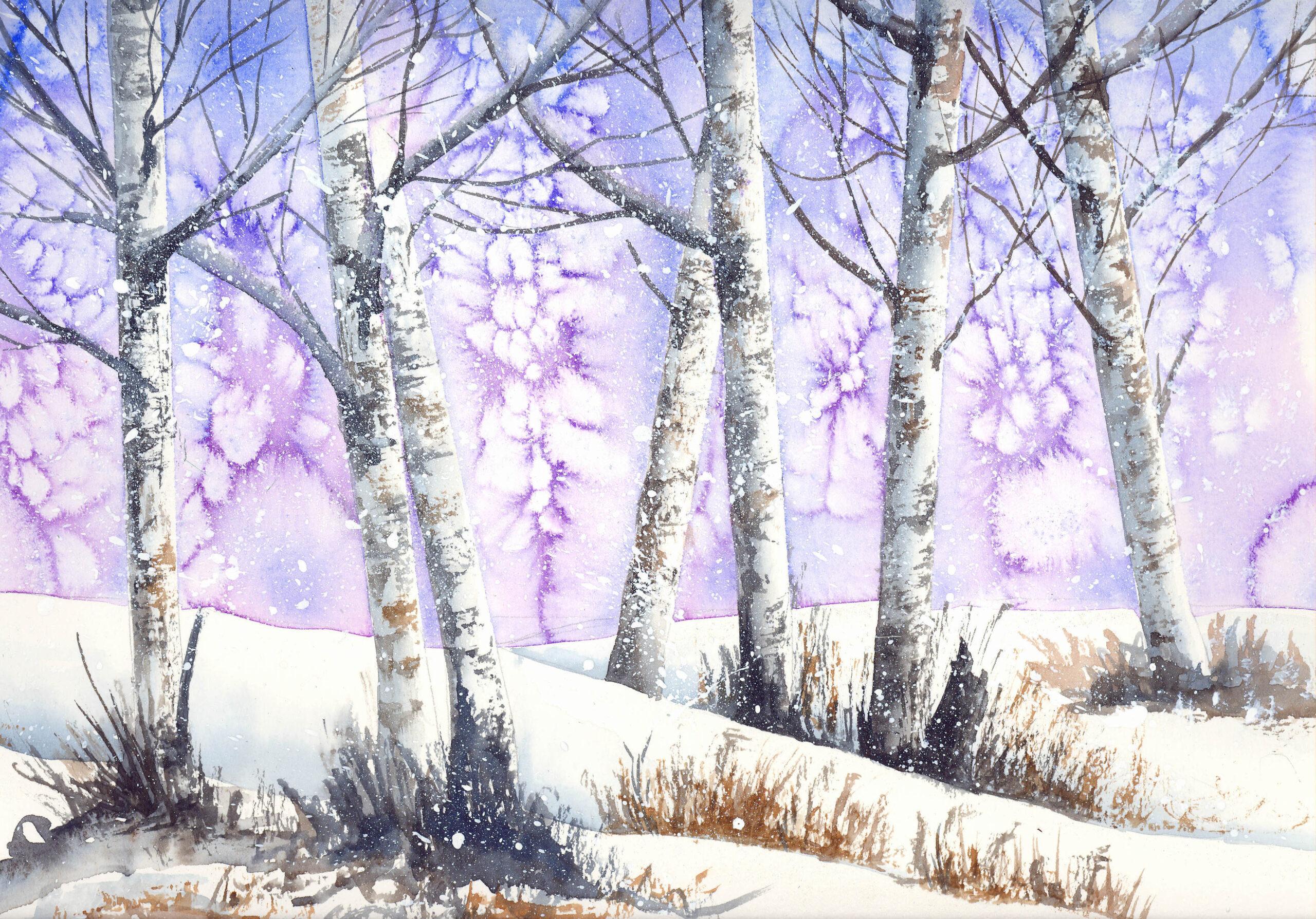Snow at Dusk